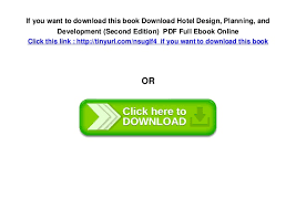 Hotel Design Planning And Development Pdf Free Download