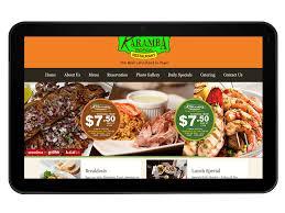 restaurant website design development and social media marketing