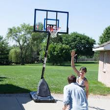 furniture simply portable basketball hoop with black base and nba