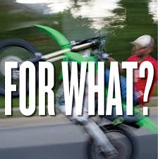 how do i road register a motocross bike for what a recent crackdown on illegal dirt bikes leaves the
