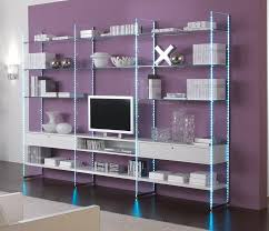 Purple Bookcase Glass Bookcase Composition 303x40x220h
