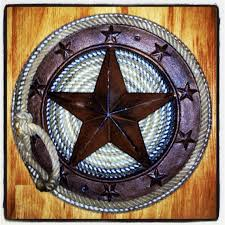 metal star home decor texas western metal star wrapped with lariat cowboy by nikenat02