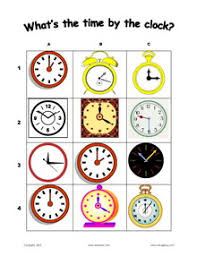 esl english vocabulary printable worksheets for teaching time