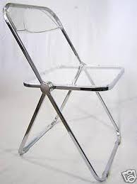 Lucite Folding Chairs Lucite Folding Chairs X Set Of Four Plia Lucite Aluminum And