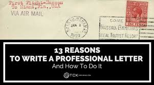 13 reasons to write a professional letter and how to do it tck