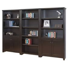 Bookcase With Doors And Drawers Library Wall Bookcases And Bookshelves Hayneedle