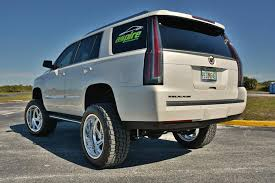 cadillac escalade 2017 lifted lifted cadillac escalade wears 22 inch american force nightmare