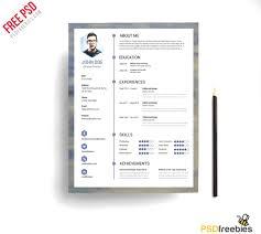 free modern resume templates psd 15 free elegant modern cv resume templates psd freebies modern