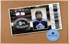 hockey birthday invitations personalized with photo