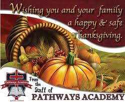 happy thanksgiving day pathways academy