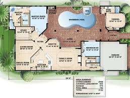 house plans with pool plan 66000gw pool wrap bedroom corner florida house plans and
