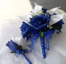 wedding flowers royal blue royal blue brides bouquet complete wedding flower package with
