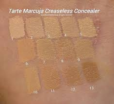 tarte light medium neutral tarte marcuja creaseless concealer full cover concealer review