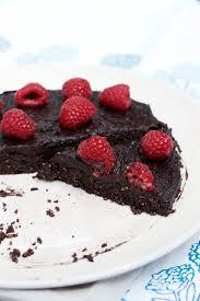lunch u0026 latte walnut chocolate fudge cake with raspberries