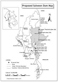 Rivers In China Map Salween Dams International Rivers