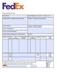 invoices sample free fedex commercial invoice template excel