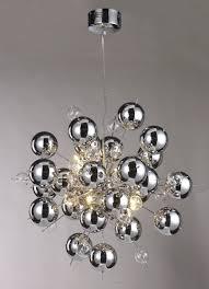silver pendant light shade lighting chrome ball sputnik chandelier fabulous silver pendant