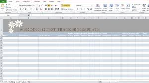 Wedding Expenses List Spreadsheet Wedding Guest List Template In Excel Excel Tmp