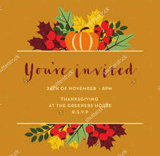 21 thanksgiving invitation designs psd vector eps ai