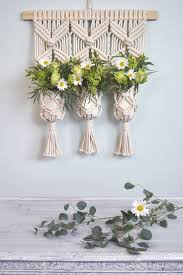 macrame wall hanging plant holder decor idea by amy zwikel studio