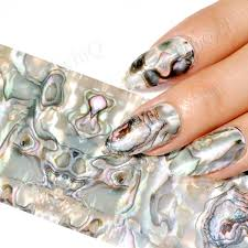 aliexpress com buy green marble nail foil decoration abalone