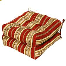 Replacement Patio Chair Cushions 35 Outdoor Chair Cushions Squared Blacktan Stripe Outdoor