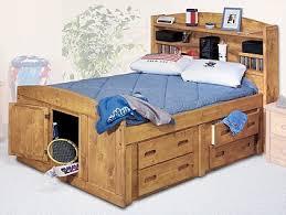 bookcase headboard bedroom furniture sundance full captain u0027s bed