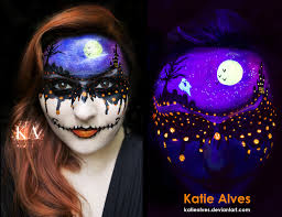 dripping with halloween black light makeup by katiealves on