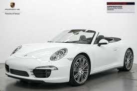 white porsche 911 convertible porsche 911 4s cabriolet in florida for sale used cars