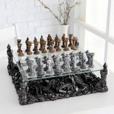 3d knight pewter chess set walmart com