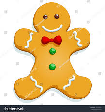 gingerbread man christmas cookie character isolated stock vector