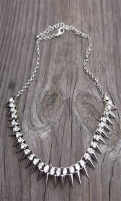 rock necklace jewelry images Spiked statement necklace necklaces under 50 punk rock jpg