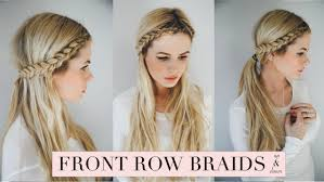 hair braid across back of head tutorial front row braid youtube