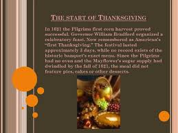 thanksgiving history ppt