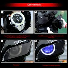 kt led angel demon eyes projector lens suitable for kawasaki ninja