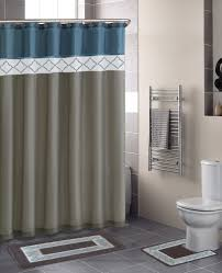 Curtains Set Contemporary Bath Shower Curtain 15 Pcs Modern Bathroom Rug Mat