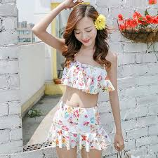 two halter flat angle small chest high waist micro