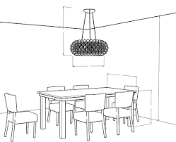 LightologyChandelier Size Calculator  Ceiling Table - Height of dining room light from table