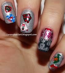 christmas nails u2013 365daysofnailart
