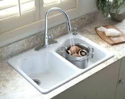 white double kitchen sink white undermount kitchen sink quartz composite double bowl x 7 3 4 9