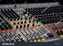 Studio Mixing Desks by Professional Audio Mixer Desk He Concert Stock Photo 31175908