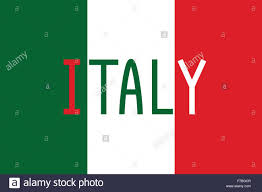 Itlaly Flag Italian Flag And Word Italy Stock Vector Art U0026 Illustration