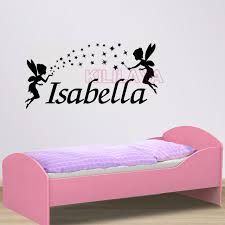 Tinkerbell Garden Decor Personalized Name Decals Tinkerbell Magical Fairy Vinyl Wall