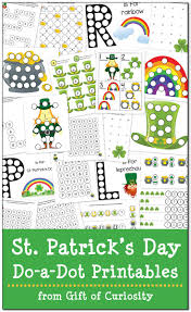 st patrick u0027s day do a dot printables free gift of curiosity