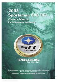 polaris offroad vehicle sportsman 800 efi pdf owner u0027s manual free