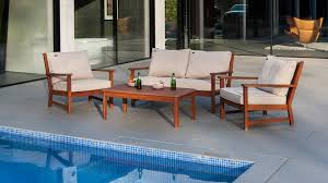 Patio Furniture Metal Wooden Metal Weave Rattan Garden Furniture Collections