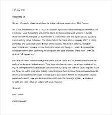Formal Complaint Letter Against An Employee 15 hr complaint letter templates free sle exle format