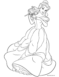 belle printable coloring pages disney princess belle coloring page