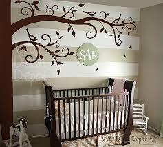 Brown Tree Wall Decal Nursery Corner Tree Wall Decal Baby Nursery Wall Decals Por Walldecaldepot