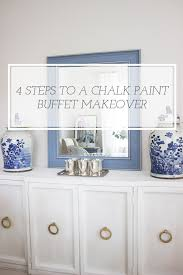 4 simple steps to a chalk paint buffet makeover blue door living